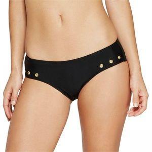 NWT Xhilaration Grommet Bikini Bottom XL Black